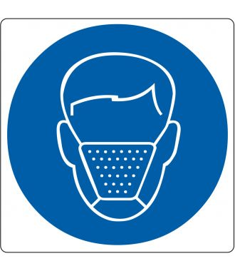 """Mouth Cap Required"" sticker (Maxi-Loka Premium)"