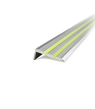 Aluminium Treppenkantenprofil Glow-in-the-Dark